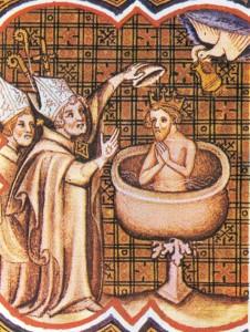 Clodoveo bautismo por San Remi