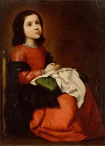 Virgen NIña Zurbarán