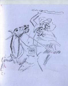 Balaam castigando la mula