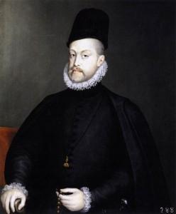 Felipe II rezando el Rosario