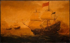 Spanish_Galleon_Firing_its_Cannon