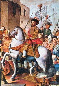 Hernán Cortés caballo blanco