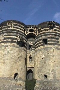 The Chateau d'Angers and it's 17 towers were built by Louis IX in the 13th century.